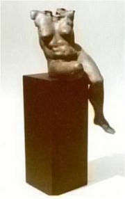 Côlé, Ad Haring, brons op hardstenen zuil, h. 142 cm