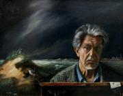 Hendrik Slijper, Zelfportret met dijkdoorbraak