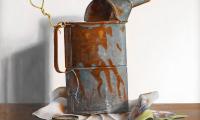 Rob Møhlmann, Tot de laatste druppel, olieverf op paneel, 40 x 40 cm