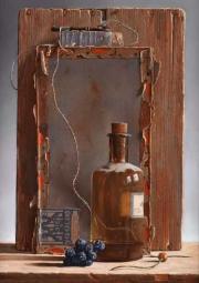 Kleinhandel, Rob Møhlmann, 2002, olieverf op paneel, 30x22cm