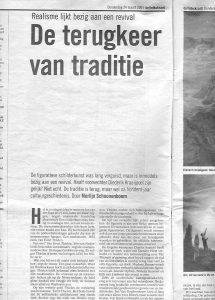 Krantenknipsel De Volkskrant