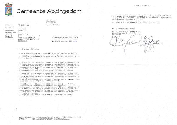 3 juli 2007 - Brief gemeente Appingedam