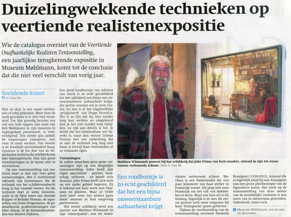 Artikel Friesch Dagblad - 3 oktober 2012