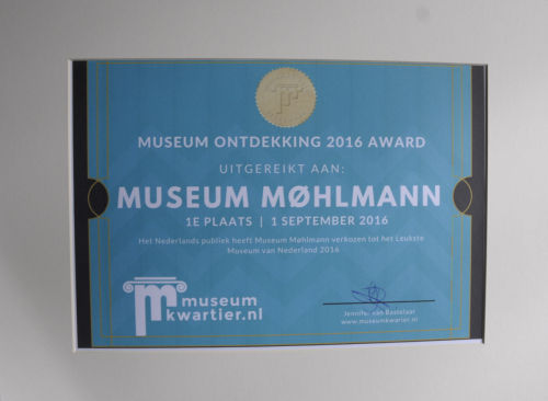 Award - Museum Ontdekking 2016 Awards - Museum Møhlmann