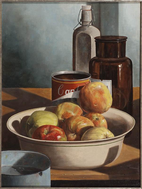 Rob Møhlmann - Canto 48, Schaal met zeven appels - 1985