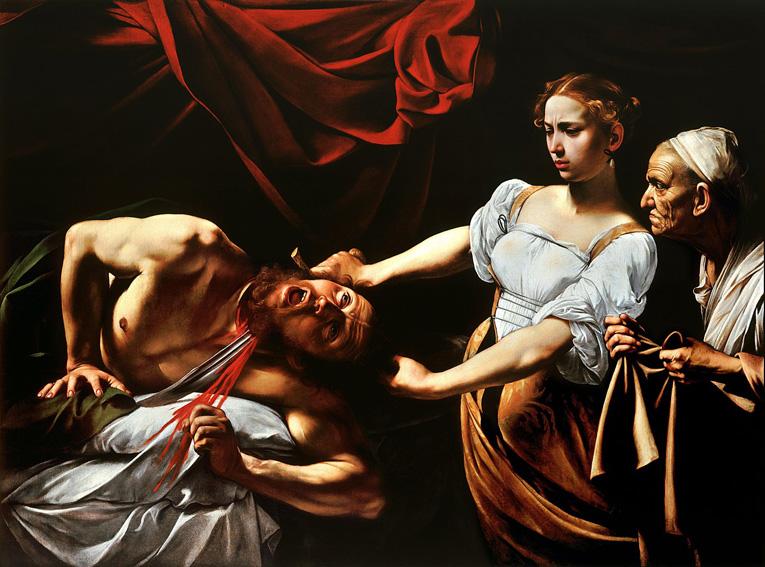 Caravaggio, Onthoofding van Holofernes door Judith, ca. 1599