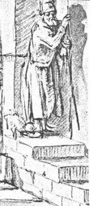 De Blinde Tobias, Rembrandt, tekening 1651-52