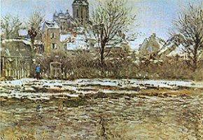 Effet de neige à Vétheuil, Monet