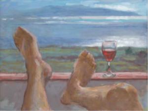 Feestschilderij van Jan van Loon Uitzicht 2011