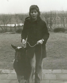 Fiona en bok Flipper in 1974