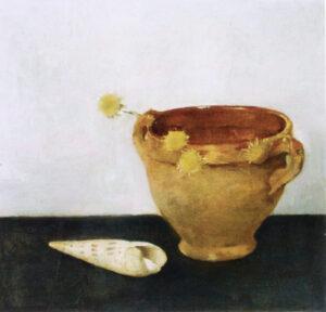 Jan Mankes Stilleven met Keulse Pot, 1917, olieverf op paneel, 34x35cm