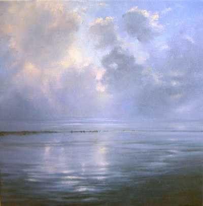 Janhendrik Dolsma, Mistwolken 2, 2003, olieverf, 60x60cm