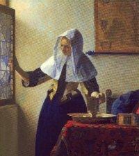 Johannes Vermeer, Vrouw met waterkan