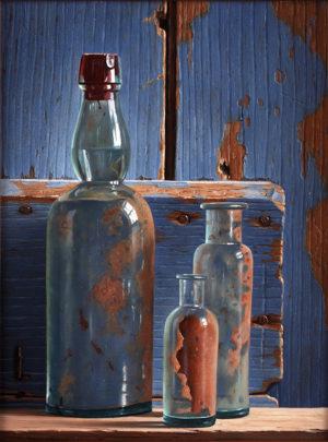 KE24, Drie opgegraven flesjes