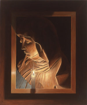 KK12, Framed-4 Madonna bij kaarslicht