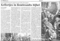 Keffertjes in Rembrandts bijbel