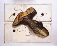 Old shoes, litho, Rob Møhlmann