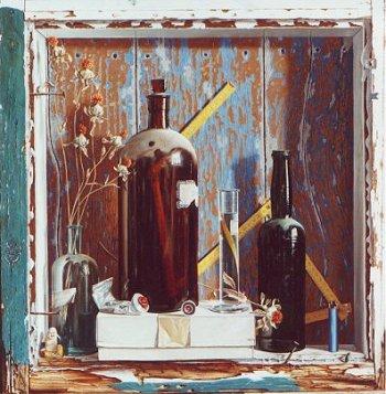 Rob Møhlmann, Stilleven met blauwe aansteker, 2000, 61 x 61 cm