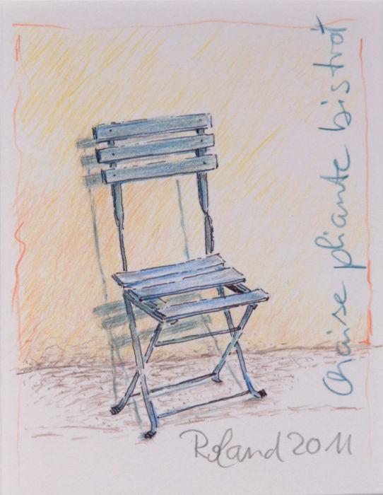 Chaise pliante bistro