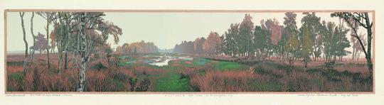 Siemen Dijkstra, Holtveen, houtsnede, Collectie Museum Møhlmann