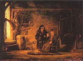 Tobit beschuldigt Anna van het stelen van het bokje, Rembrandt