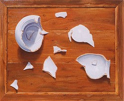 Twaalf stukjes vaas, 1990, o/p, 50x40 cm (particuliere collectie)