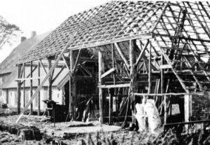 Verbouw van het achterhuis