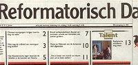 Voorpagina Reformatorisch Dagblad