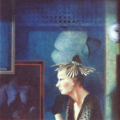 Wout Muller, Deftig, 1986, olieverf op paneel, 33,5 x 33,5 cm (onderdeel van de Møhlmann Collectie)
