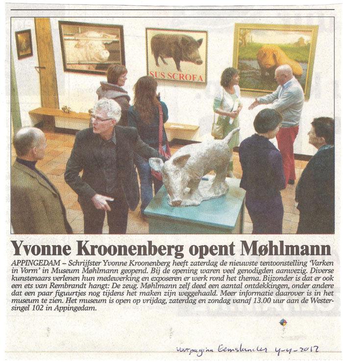 Yvonne Kroonenberg opent Møhlmann