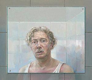 Zelfportret in badkamerspiegel - Rein Pol