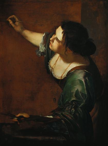 Zelfportret van Artemisia als allegorie voor de schilderkunst, ca 1638