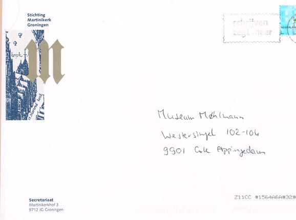 Handgeschreven enveloppe....