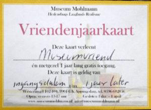 vriendenjaarkaart Museum Møhlmann